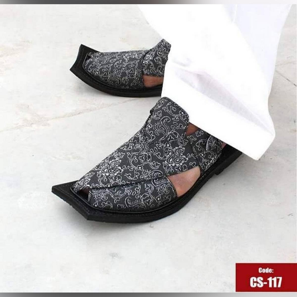 Peshawari Sandal I Stylish Jamawar I For Men