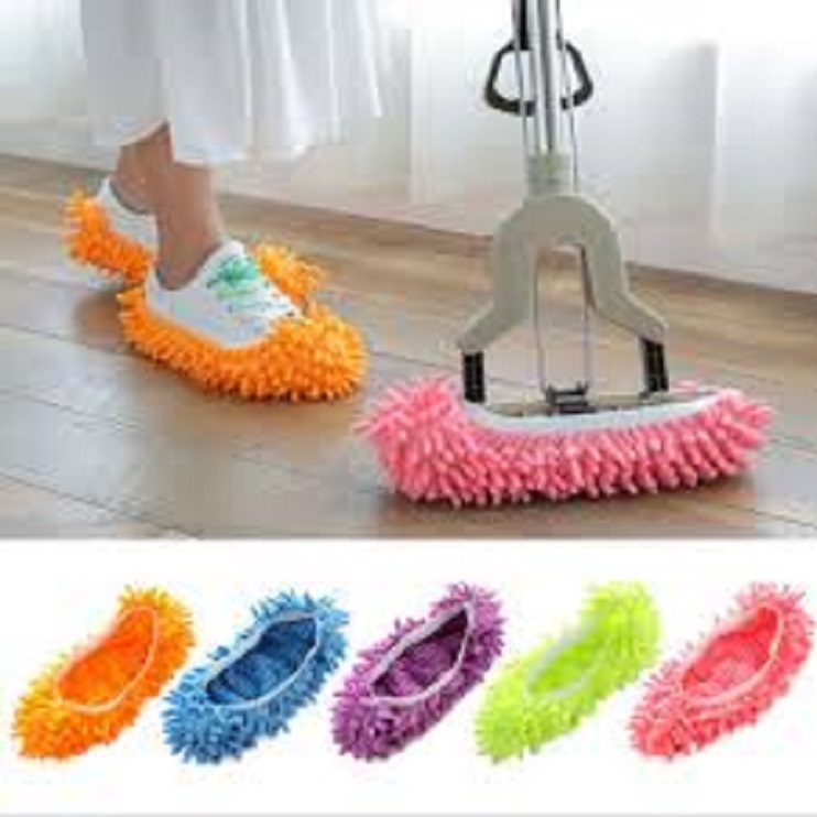 Pack Of 2 Dust Cleaner Lazy Slippers Home Mop Sweep Floor cleaning duster cloth housework Lazy Soft Slipper Shoes