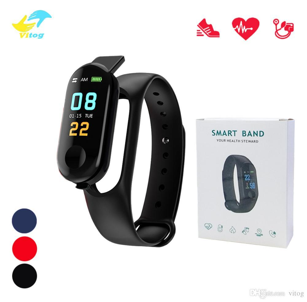 M3 Band Smart Watch Bracelet Heart Rate Blood Pressure Monitor Pulse  Wristband M3 Fitness OLED Tracker For Iphone Xiaomi mi band 3