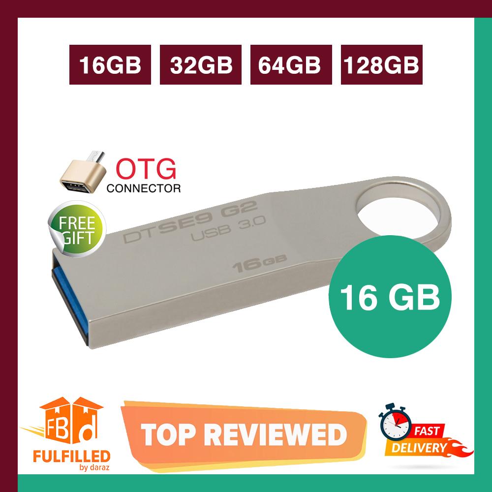 Kingston 16/32/64 GB Data Traveler SE9 G2 High Speed 2.0/3.0 Flash Memory Stick USB Drive + FREE OTG adapter - 6 Months WARRANTY