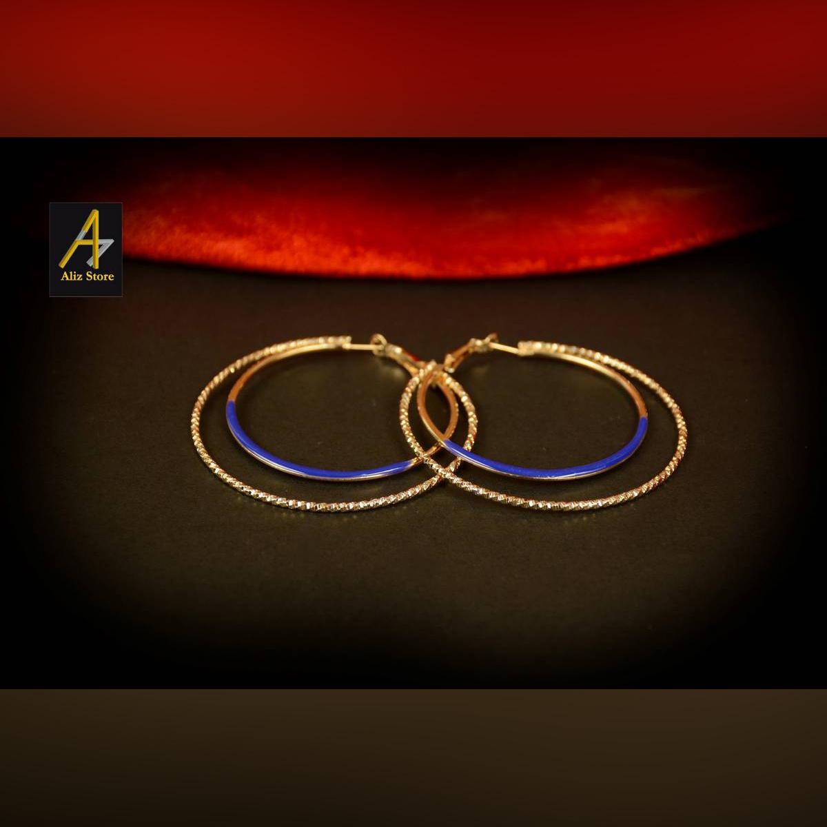 Ear hoops metallic earrings hoops style earrings for girls earrings for women fashion jewelry, trending jewelry