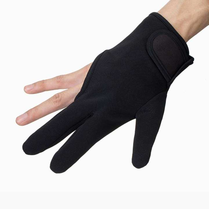 Hair Styling Tool Heat Resistant Three Fingers Glove Salon Barber Hairdressing