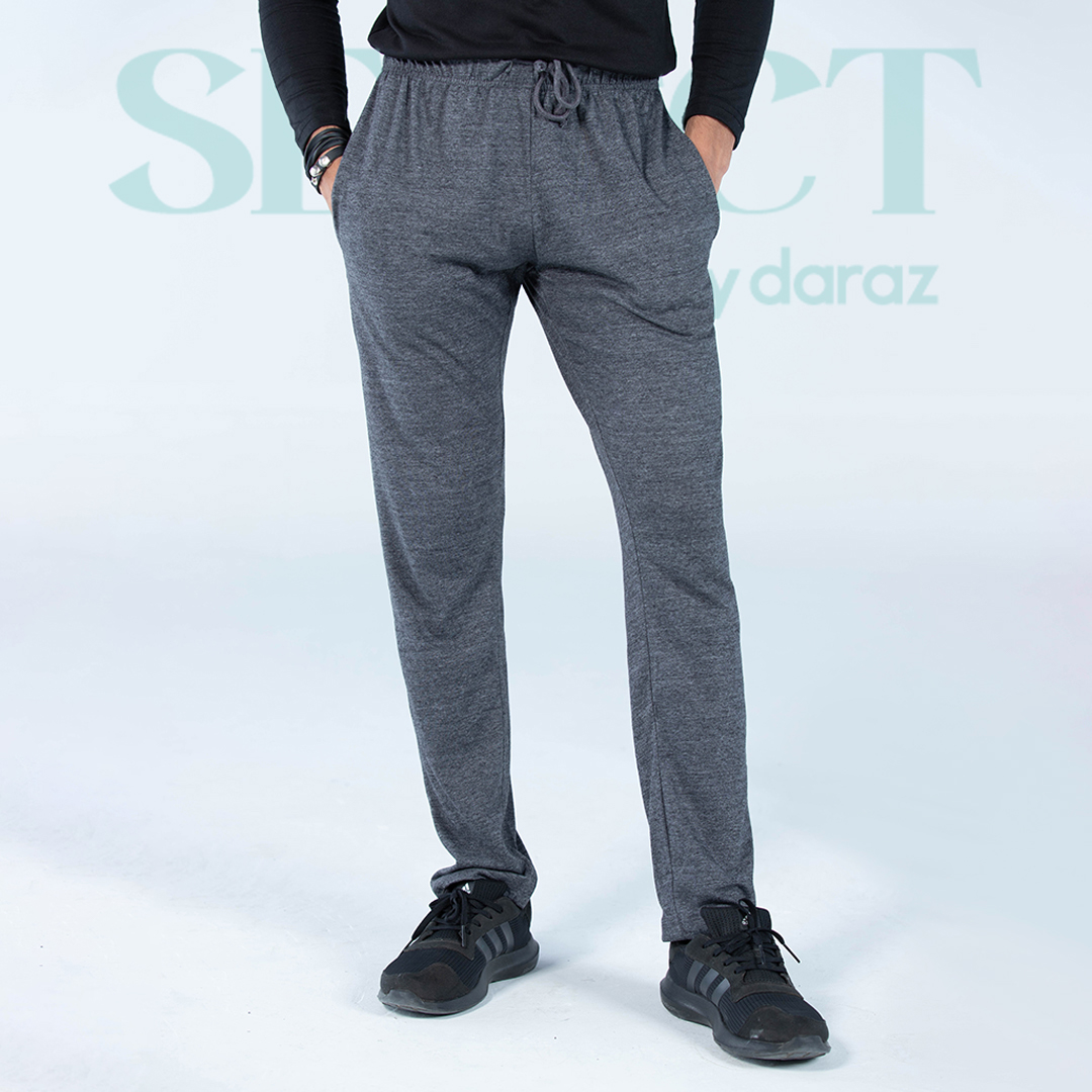 Select By  Basic Jersey Trouser For Men - Dark Grey