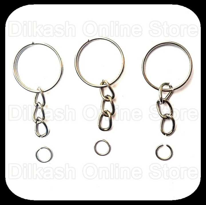 20 Key Chain Ring Base for Making Key Chains