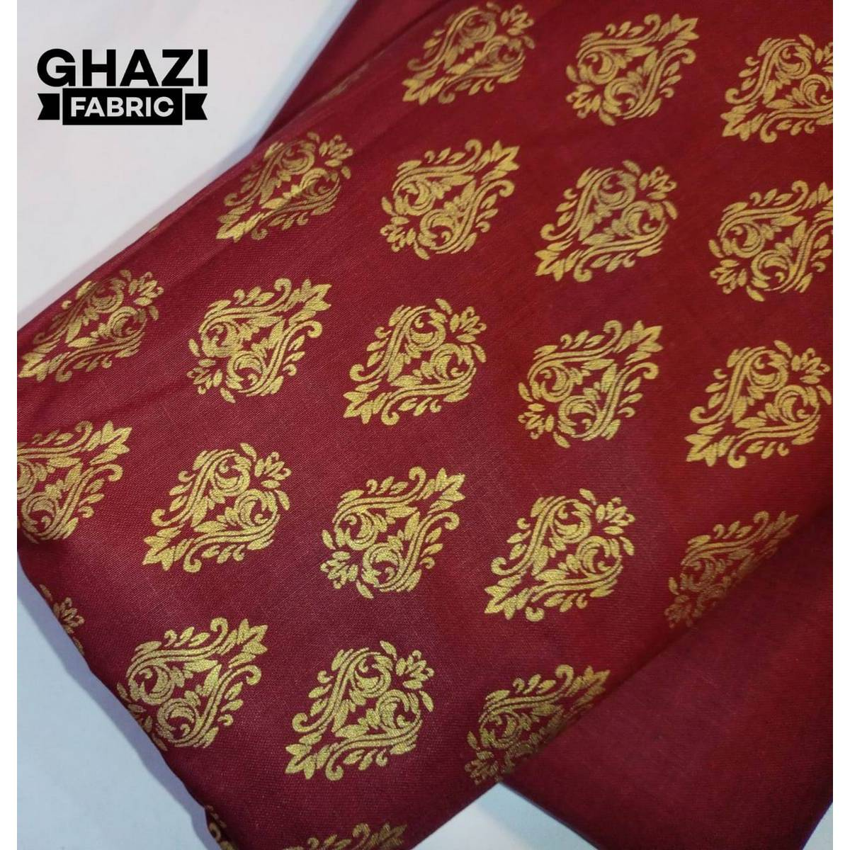 Unstitch Lawn cotton 2 piece Printed shirt plain trouser New Lawn Collection  premium quality fabric product of GHAZI FABRIC