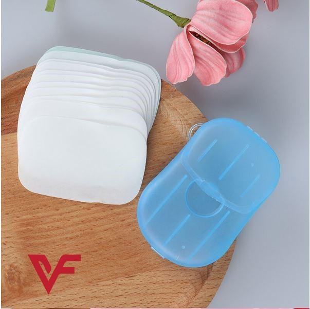 Travel Soap Outdoor Portable Mini Paper Soap Paper Washing Hand Bath Clean Scented Slice Sheets Good for Camping BBQ Hiking Travel or Any Outdoor Activity 20 PCS