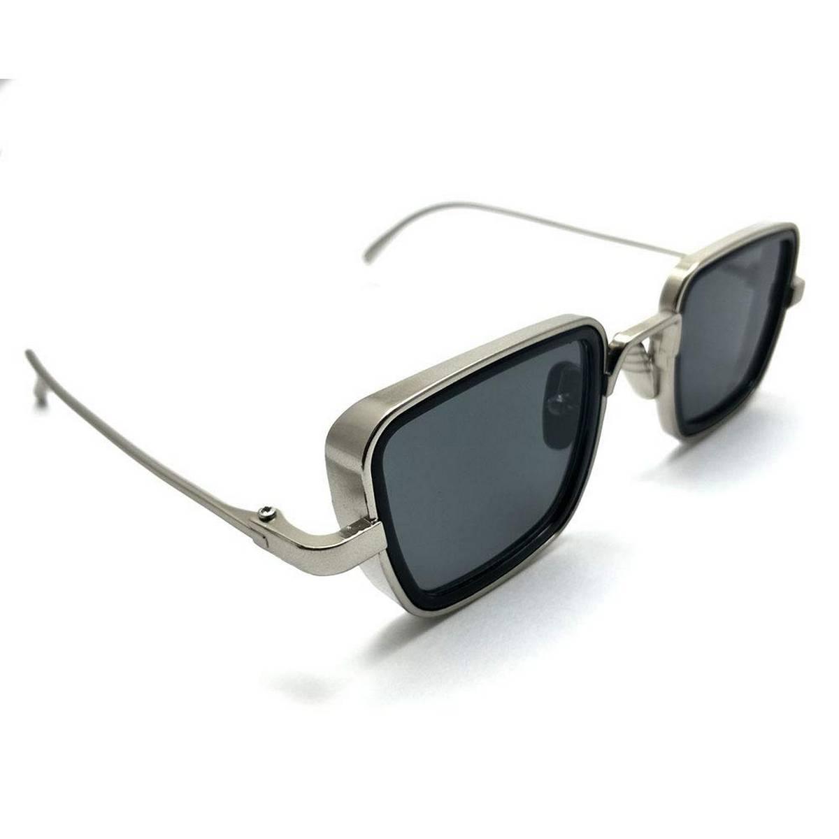Kabir Singh India Movie Sunglasses Men Square Retro Cool Sun Shades Steampunk Style Sun Glasses for Men Metal Frame Black