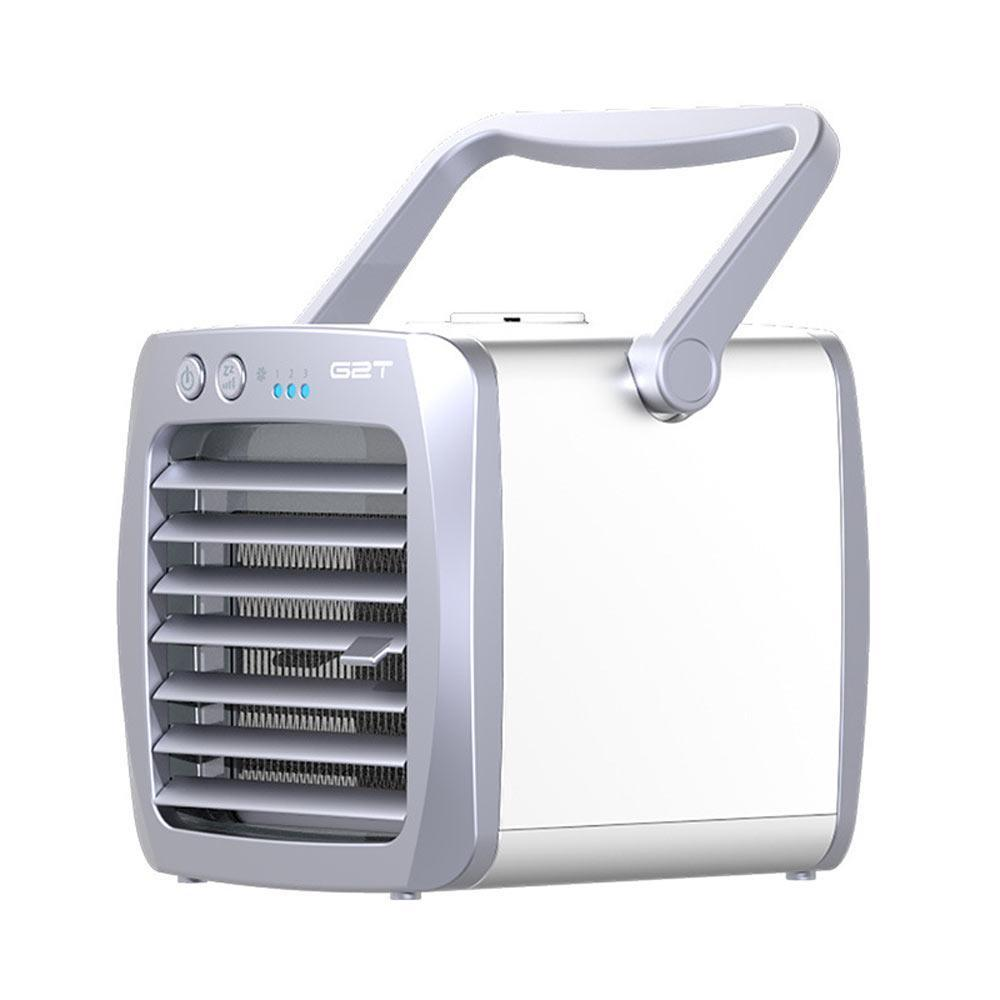 Upgrade Portable Mini Air Cooler, Air Conditioner, Humidifier, Purifier 3  In 1 Evaporative Cooler, Mini AC USB Cooling Desktop Fan For Bedroom,