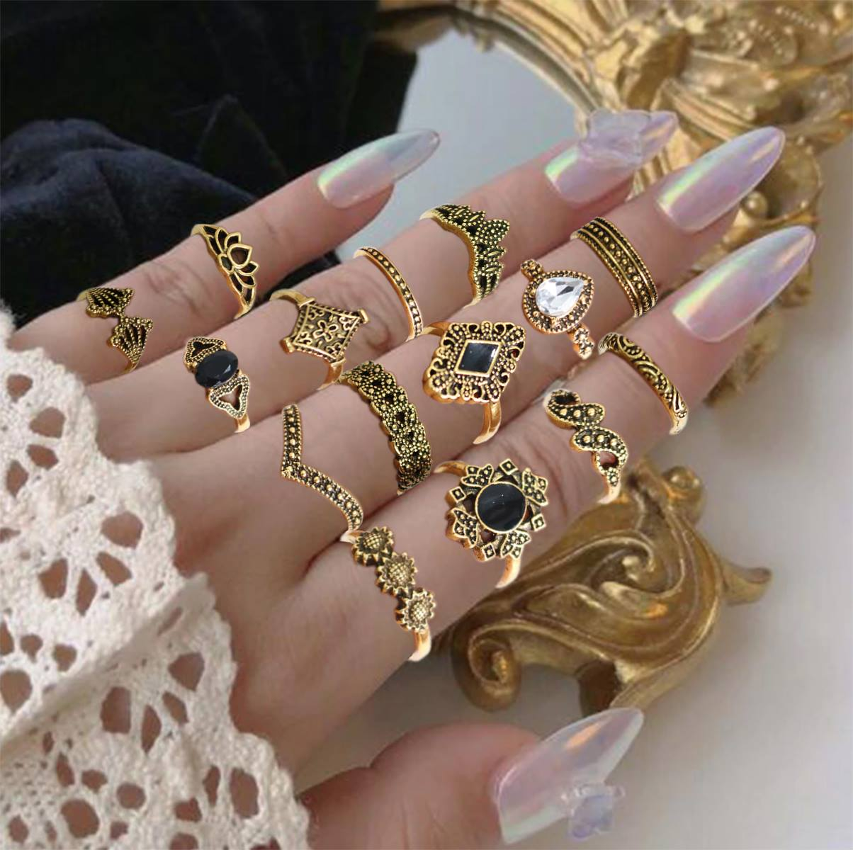 Fashion Jewelry Pieces Rings/Set High Quality Combination Rings