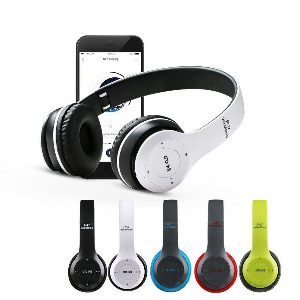 p47 wirless haedphones with sd card