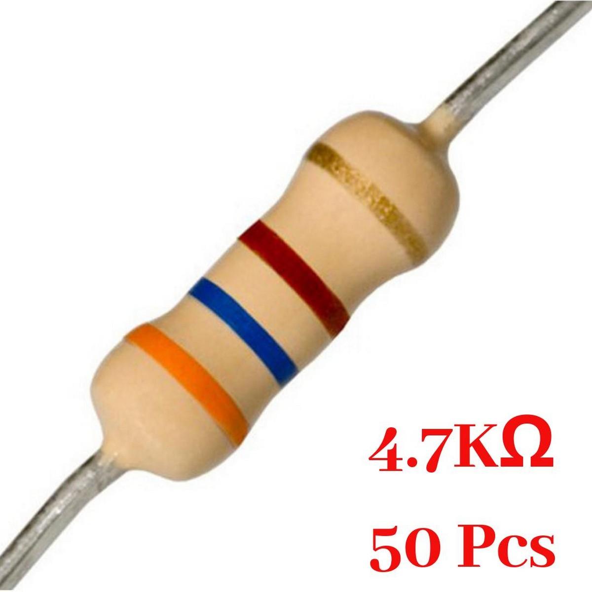 50 Pcs- 4.7K Ohm resistor
