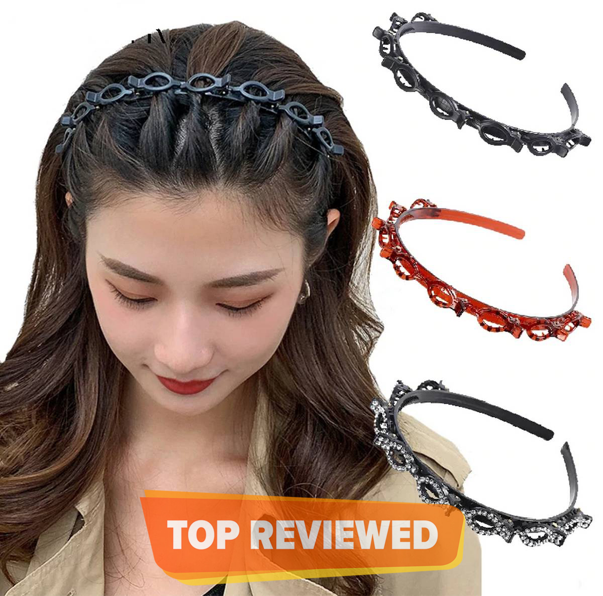 Non-Slip Alice Hairband Women Hair Bands Hoop Claws Clips Double Bangs Hairstyle Hairpin Hair Accessories