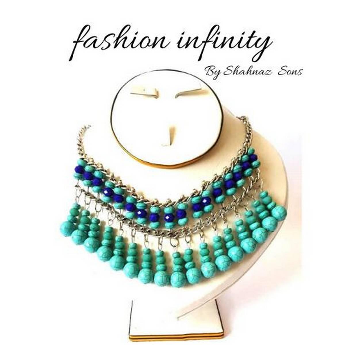 Trendy Beads Neckalce for Women - Ferozi