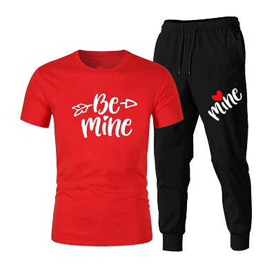Be mine half sleeves shirts and trouser for men