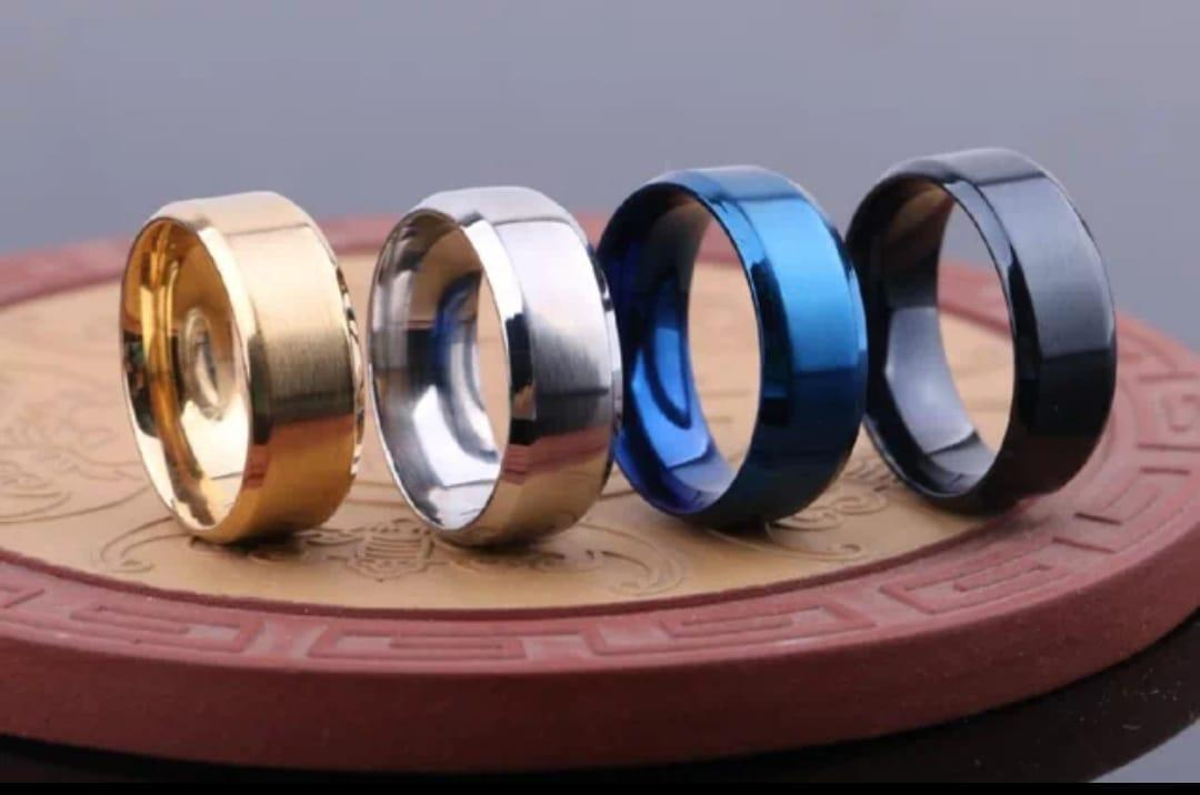 Mens Ring Titanium Trendy Shinning Ring in Four different color Ring For Men