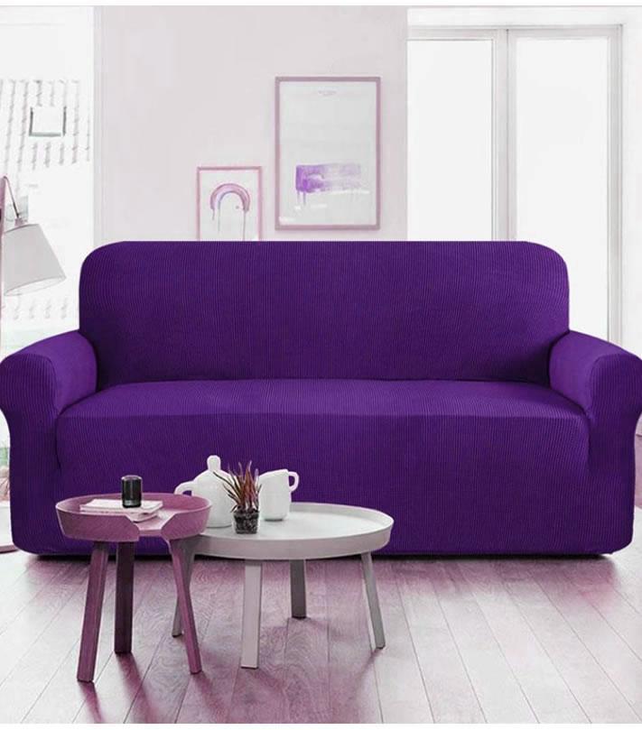 5 Seater Dark Purple Sofa Cover Set