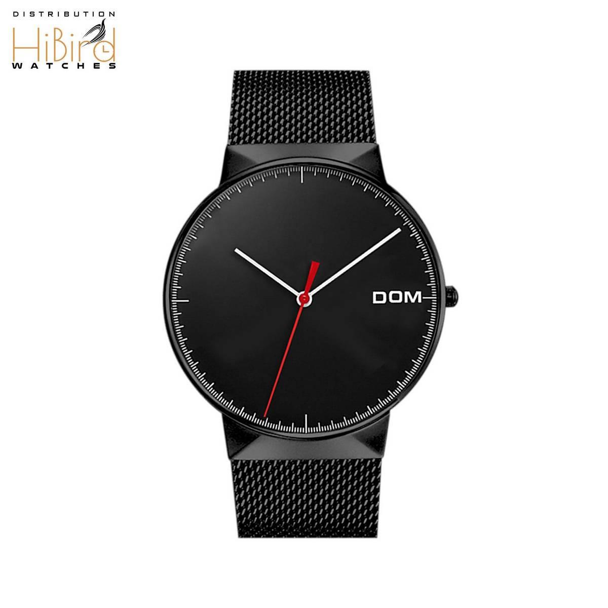 Luxury Black Elegant Dial Steel Strap Men Watch