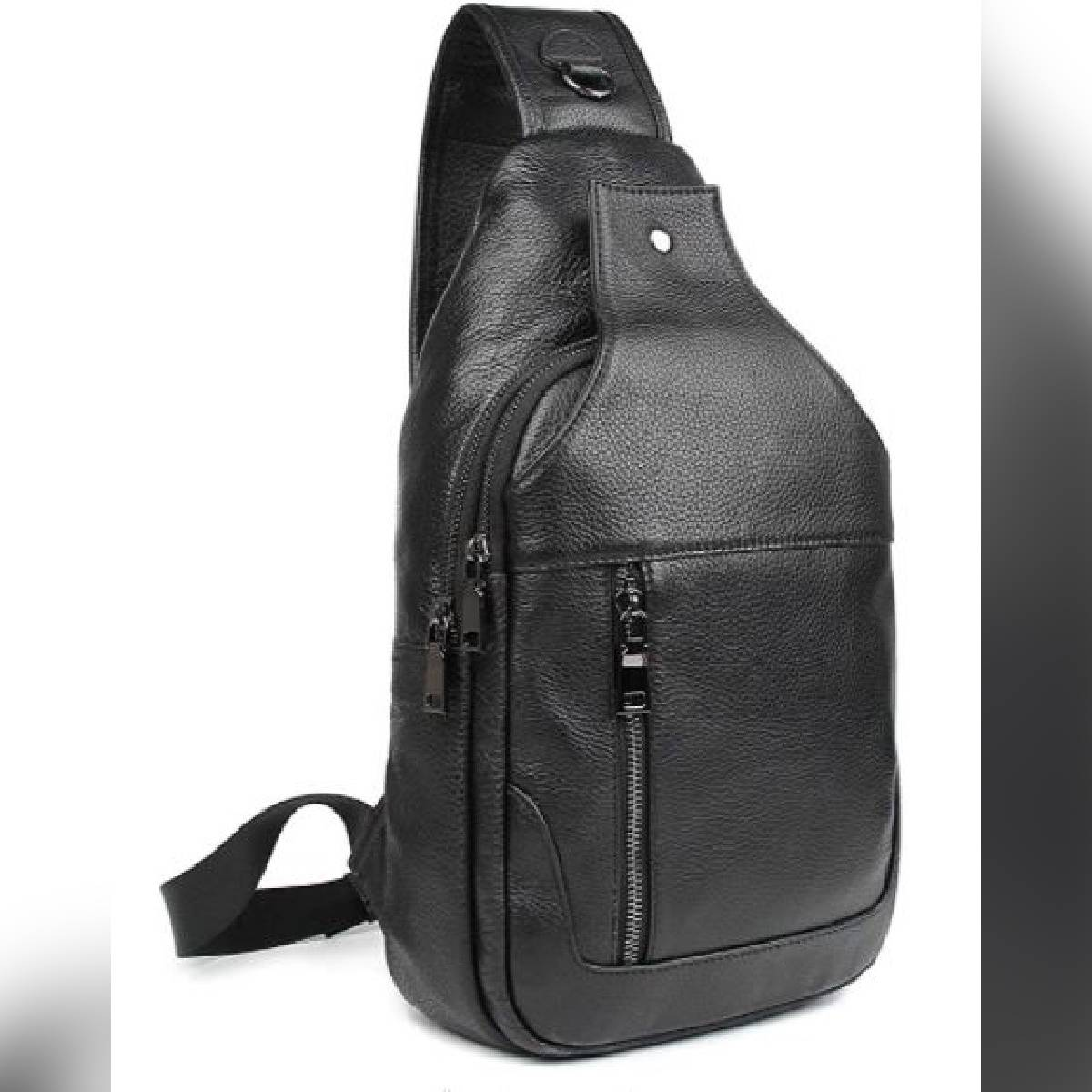 PU Leather Crossbody Bag for men Sling Mini Backpack for Boys in Brown Colour useable as Messenger Bag Gym Bag outdoor Travelling Bag for passport and I Pad & Mobile