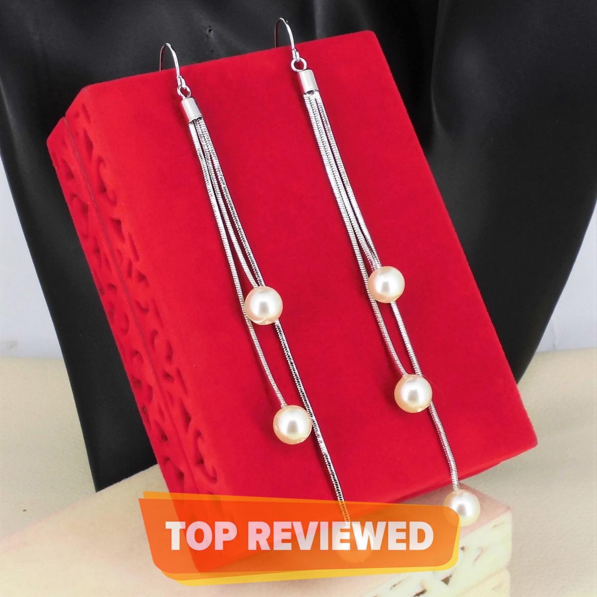 Fashionable stylish design long chain earrings