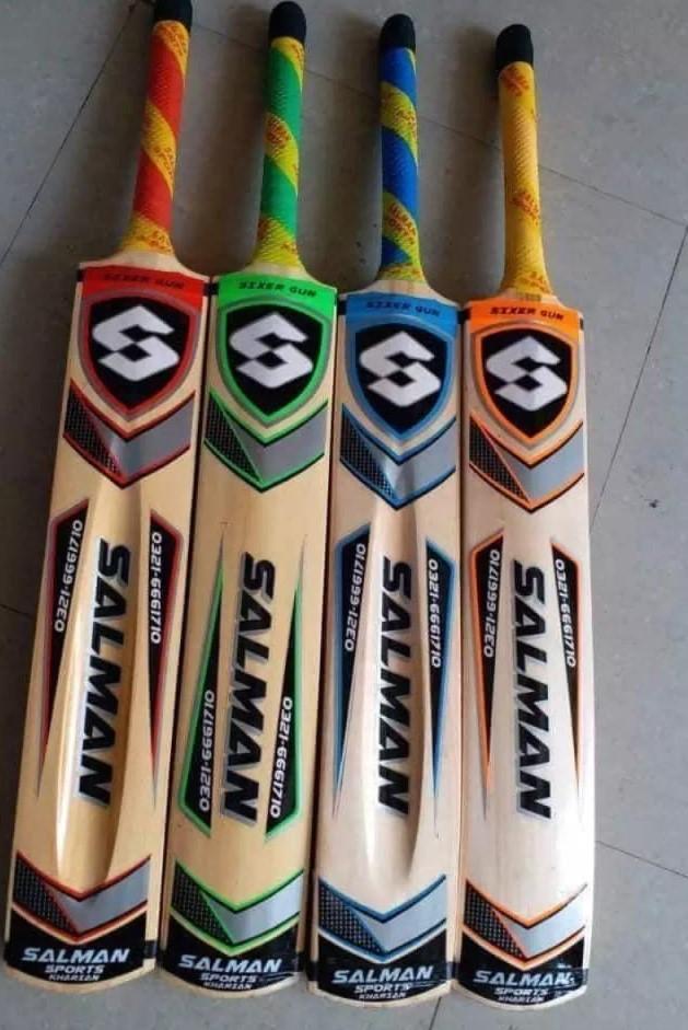 Salman 6 - Rawlakot Wood Tape Ball Cricket Bat