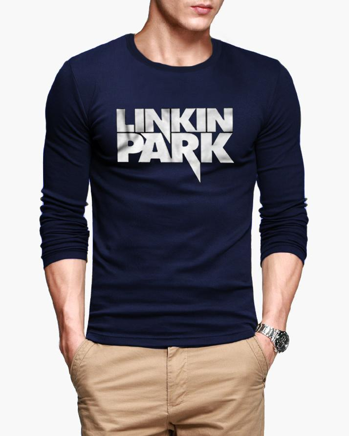 424d180732b WORLD FASHIONS Presents LINKIN PARK FULL SLEEVES Printed T-Shirt for Men