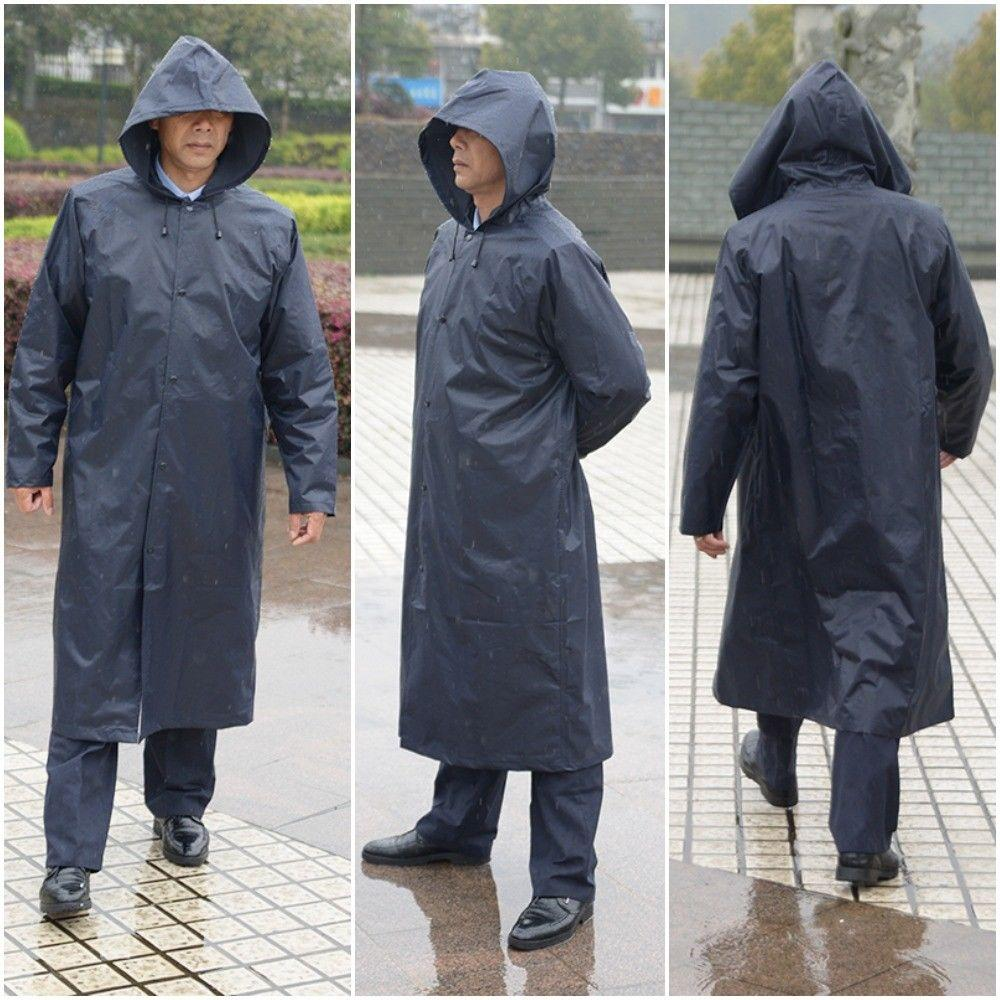 e178704286726 Raincoat Reusable, Adult Raincoat with Hoods and Sleeves, Thicken Clear  Ponchos for Men Women