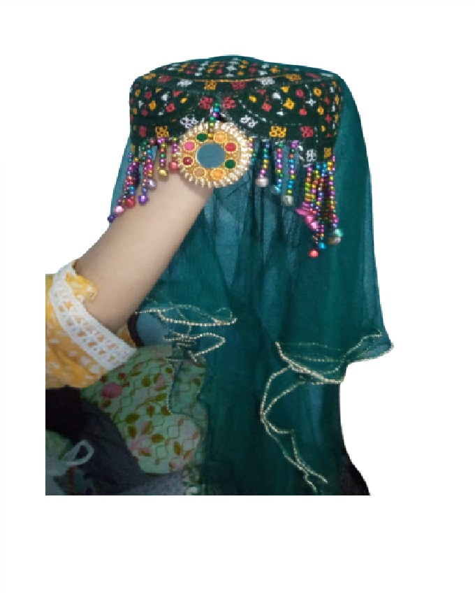 Multicolor Halima Sultan Turkish style Handmade Cap for Kids & Girls / Party Wear Cap for Girls