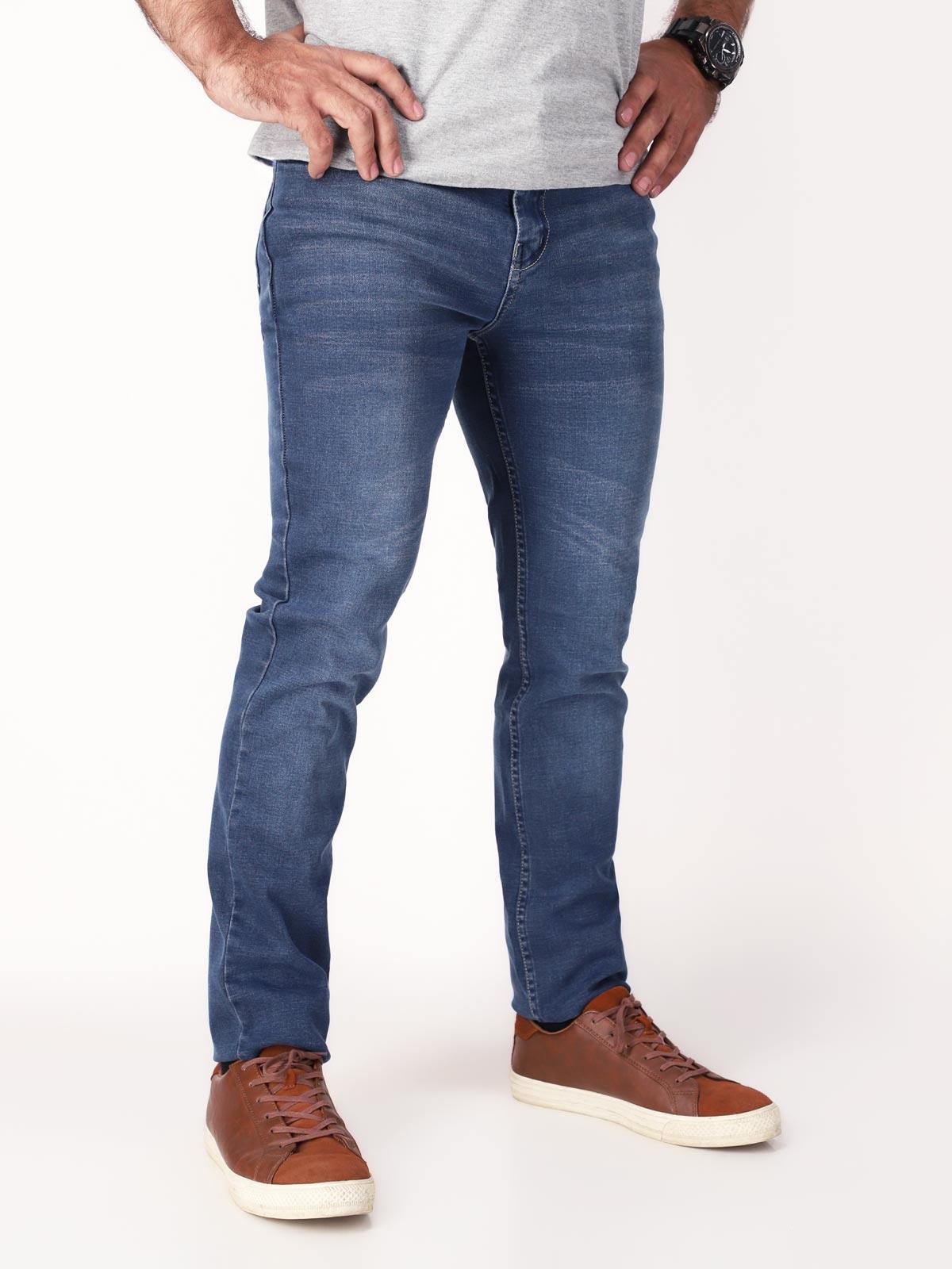 Shahzeb Saeed Blue Denim Jeans For Men (denim 13)