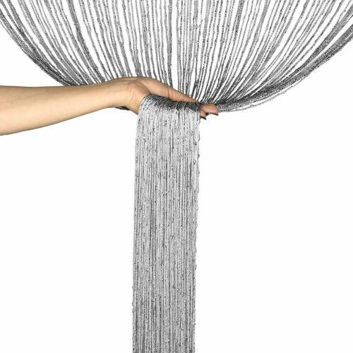 66 Inches Decorative Glitter Shiny Tassel Flash String Walkthrough Door, Window, Divider Sheer Curtain - Brownish Golden