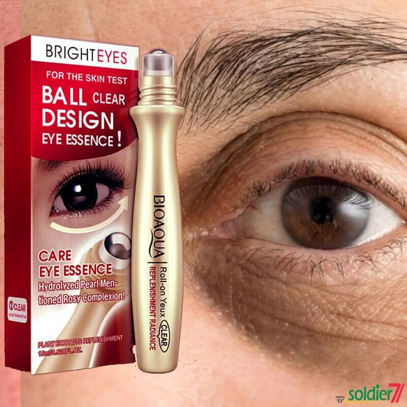 Anti-Wrinkle Puffiness Removal Roll-On Eye Ball For Dark Circle Skin Care - 15ml