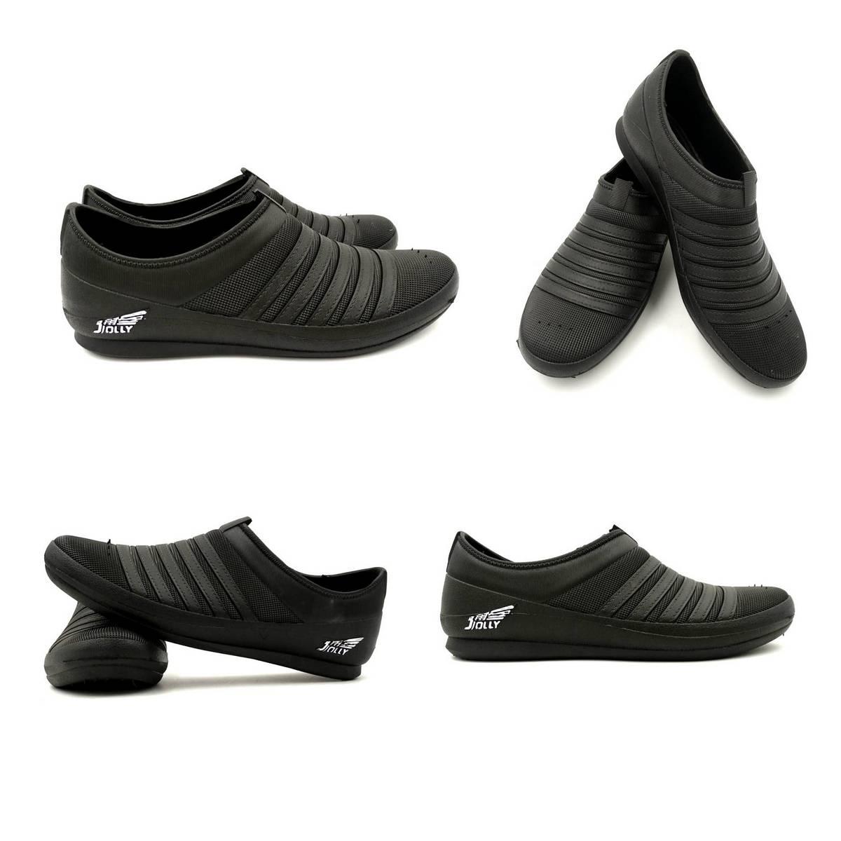 Casual Black Rubber Shoes For Men