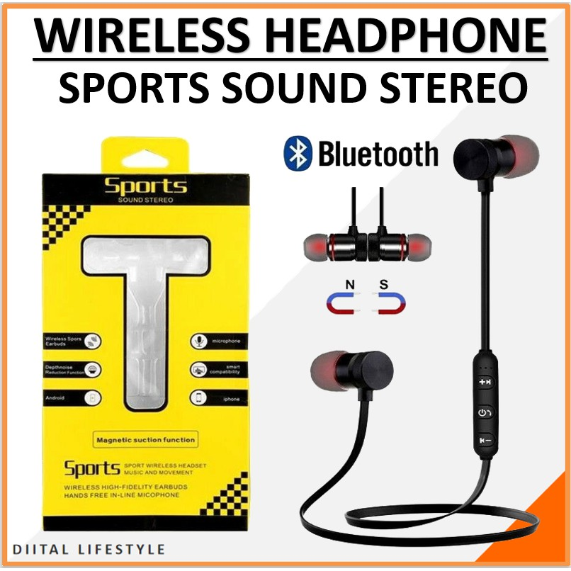 M5 Sports Magnetic Wireless Bluetooth Handsfree/Wireless headphones (Metal) - Neck band handsfree for ALL SMARTPHONES AND Mobiles - M5 Sports Wireless Handsfree - M5 Wireless Handsfree - M5 Sports Wireless Earphones - M5 Sports Running  Headphones Metal