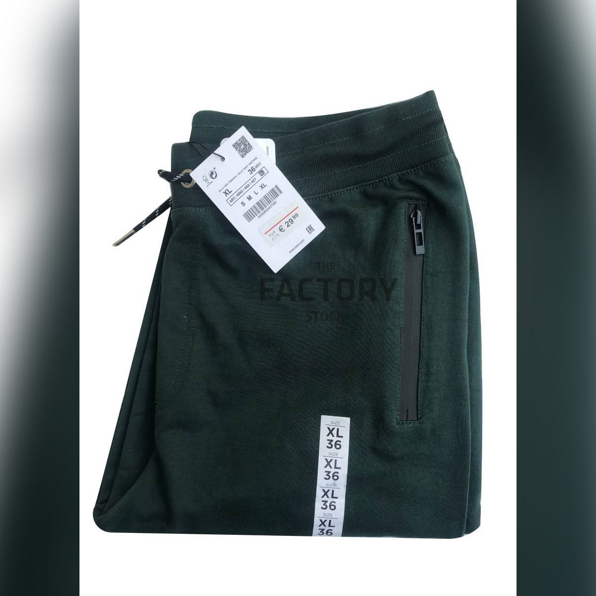 The Factory Stock - Premium French Terry Trousers (Zipper Pockets)