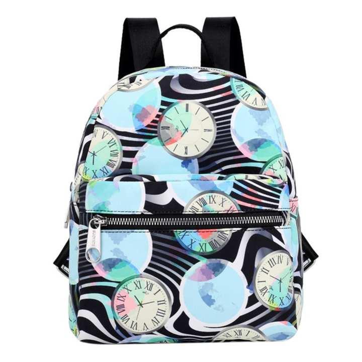 Preppy Nylon Ethnic Printed Backpack Women Girl Travel Mini Sling Schoolbag