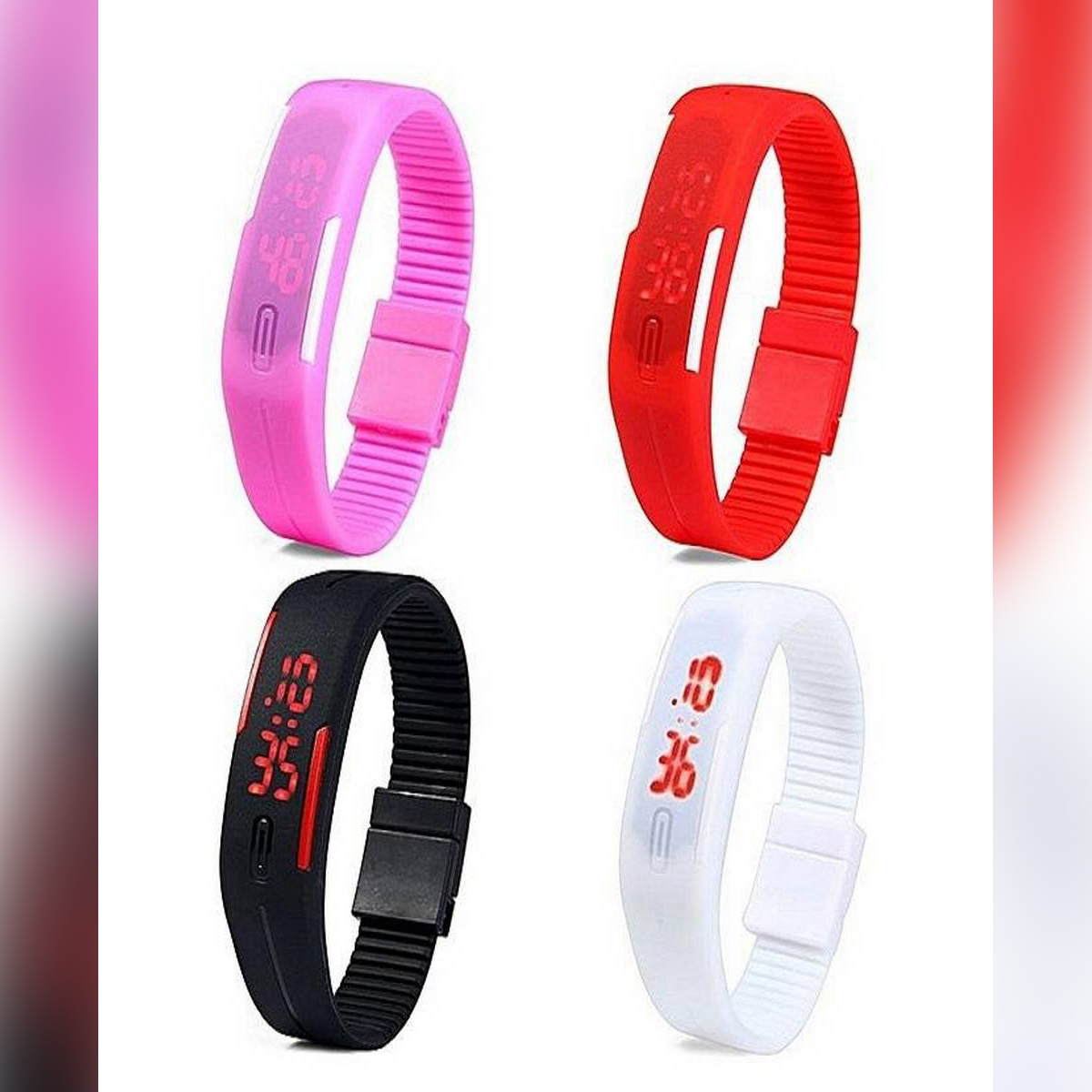 S Pack Of 4 - Led Watch For Boys & Girls