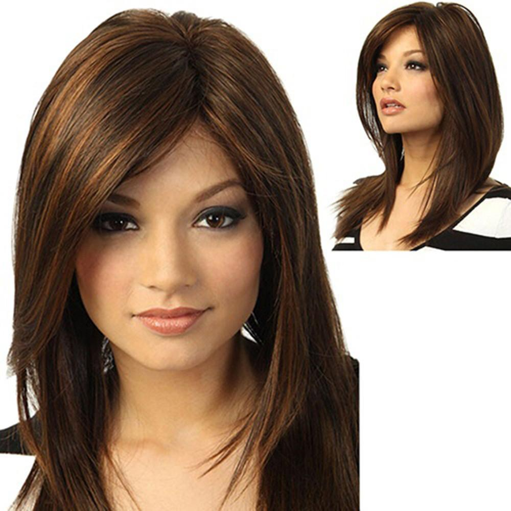 Girl Brown Natural Party Long Full Hair Care Straight Fashion Synthetic