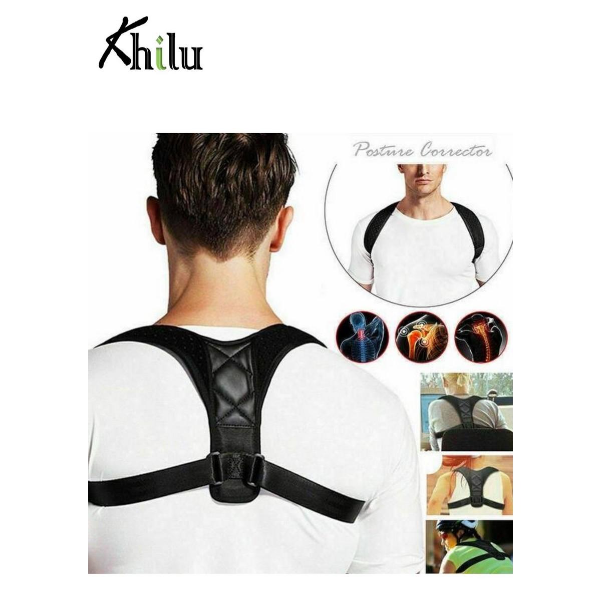 Posture Corrector Belt Adjustable- Back Pain Relief Clavicle Spine Shoulder Back Support Belt Body Posture Back Support Brace for Men and Women