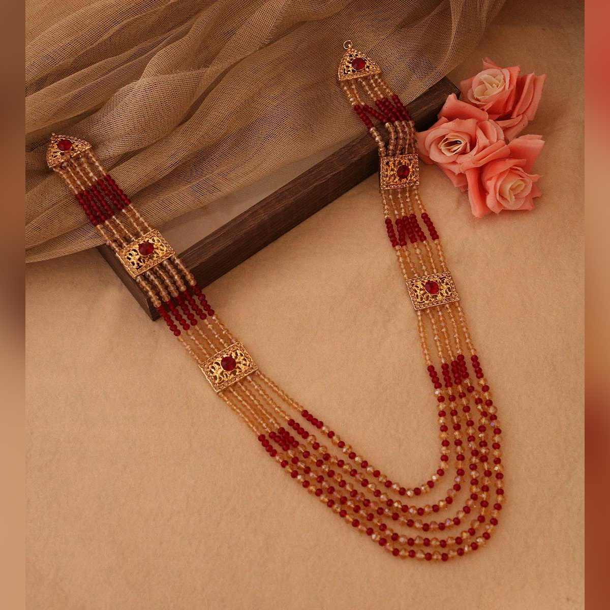 Hue Traditional Pearl Beads Bridal Wear Necklace - Wedding Jewelry Set for Women..