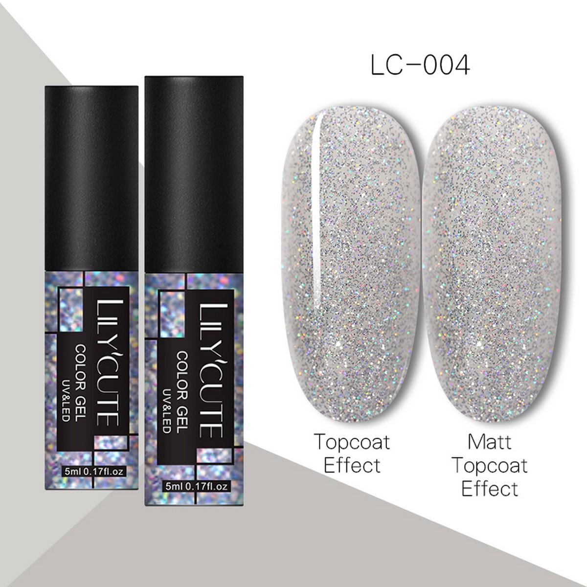 LILYCUTE Newest 100 Colors UV Gel Nail Polish Semi Permanent Soak Off UV Gel Varnish Long Lasting Nail Art Varnish Base Top Coat