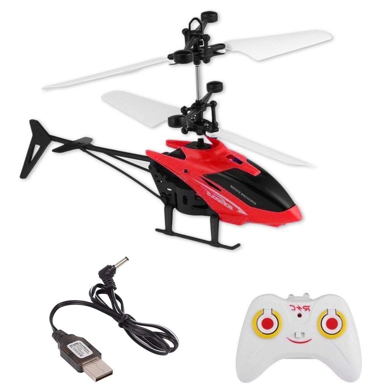 vGRASSP Kids Induction Indoor 2 in 1 High Quality Helicopter with only Up and Down Controls on Remote, along with Hand Controlled