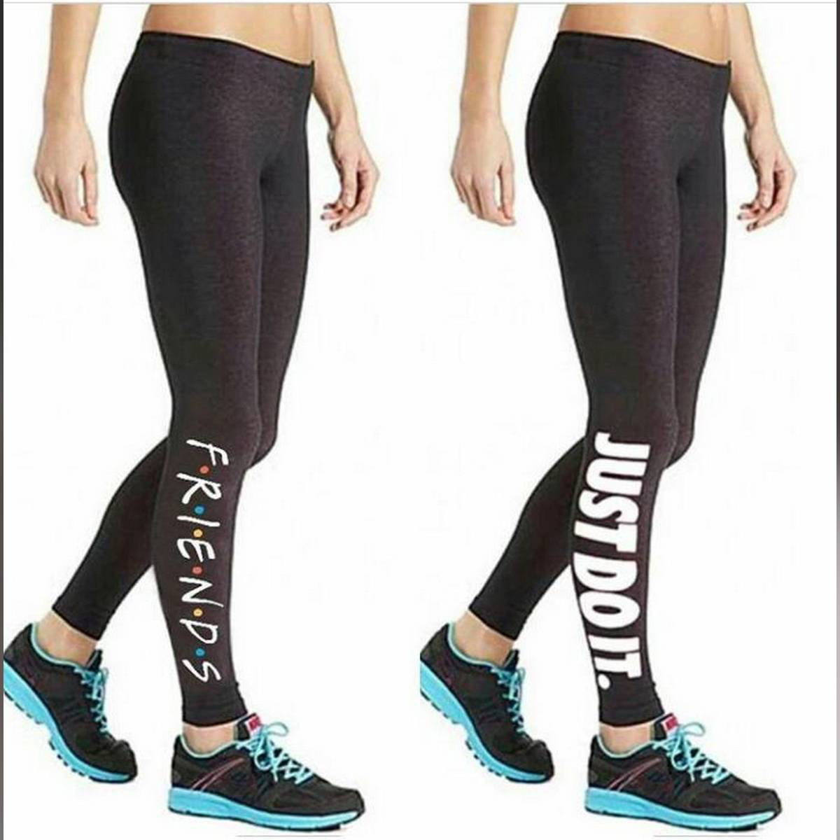 Pack Of 2 Black High Waist Stretchable Lycra  Printed Gym Tights For Women