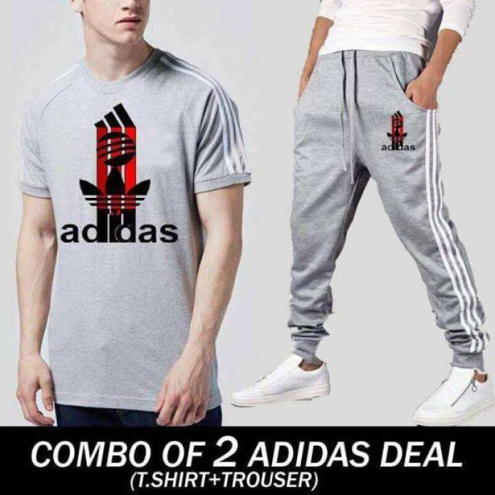 Summer Collection Deal Pack Of 2 Stripe Style T-Shirt And Trouser