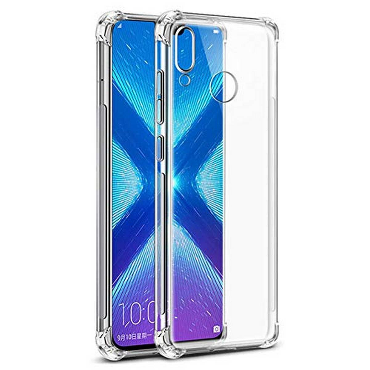 Huawei Honor 8X Airbag Case Anti Shock and Anti-Scratch Resistant Clear View Transparent Silicone Back Cover