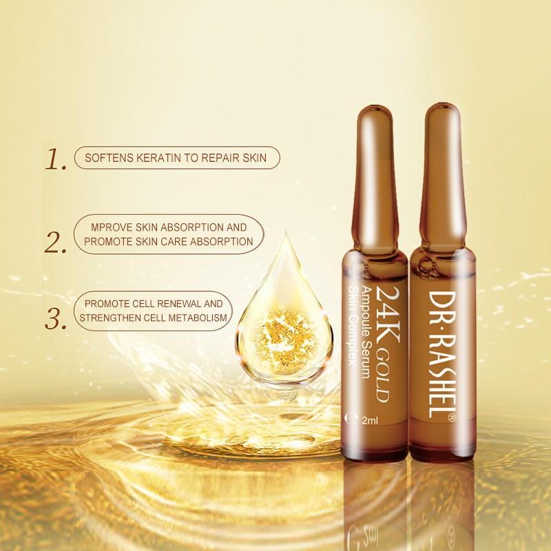 Dr Rashel 24K Gold Skin Complex Ampoule Serum 7 Ampoules X 2ML drl 1460 p0:  Buy Online at Best Prices in Pakistan | Daraz.pk