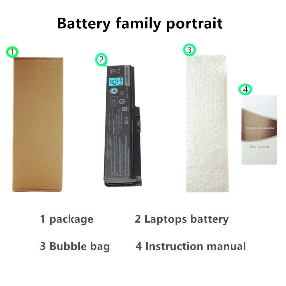 10.8V 48Wh New Laptop Battery for Toshiba PA3817 PA3817U-1BRS ...