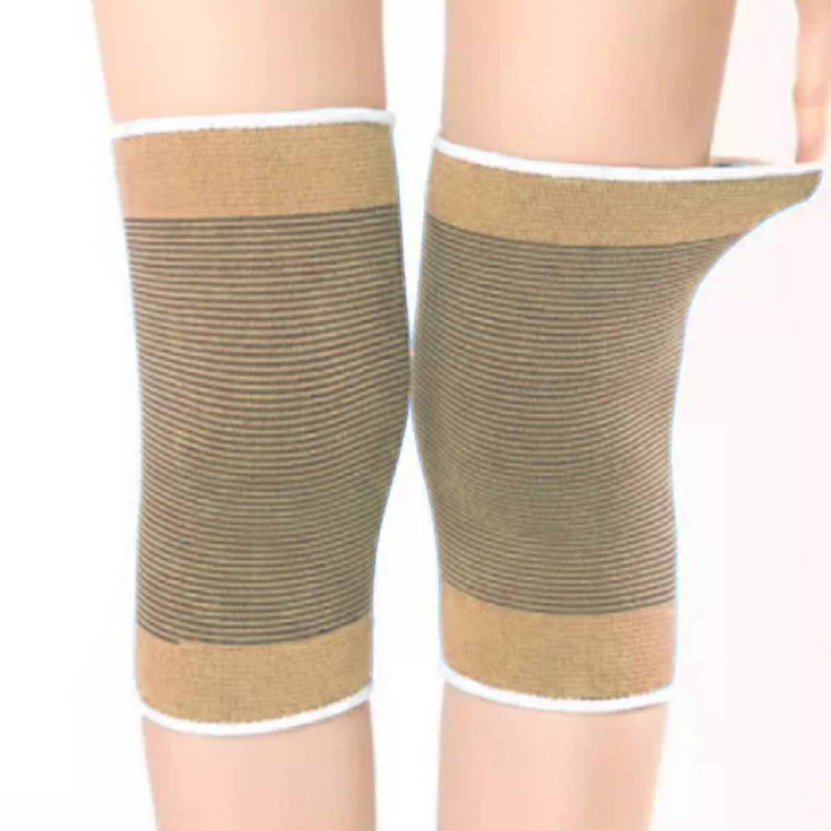 Knee Cap Brace Pair Support Sleeve for Running, Tennis Football Pain Relief Knee Support