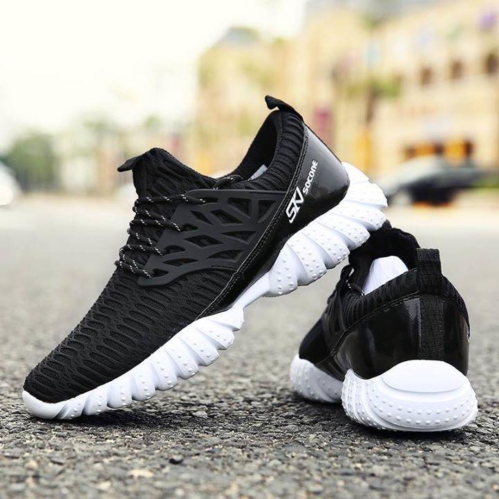 d95f87c73de Black And White Running Shoes