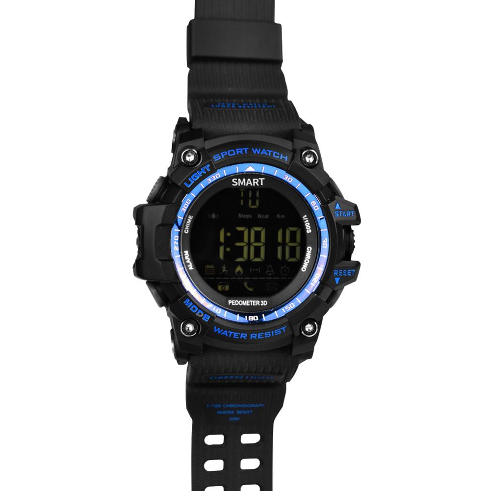 NEW EX16 Waterproof Bluetooth Smart Watch For Android IOS iPhone (Blue)
