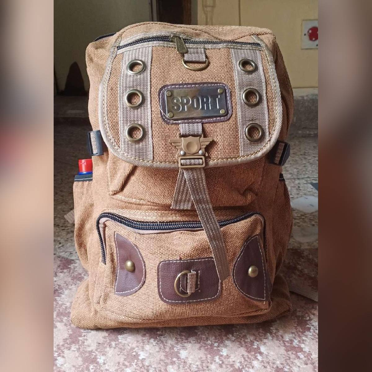 Canvas Backpack Army Style School college universty Bag