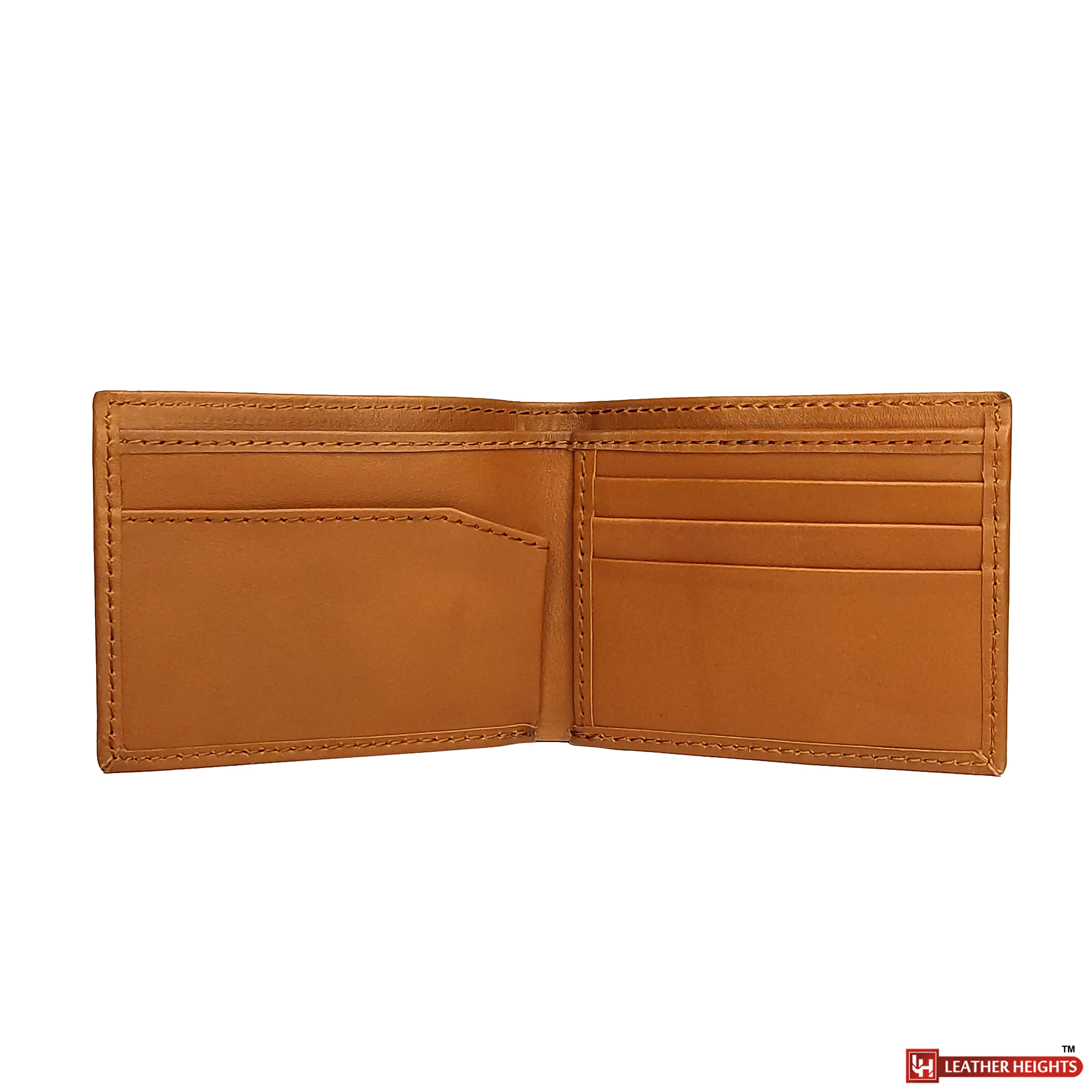 Mini brown leather wallet for Men.
